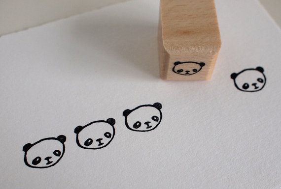 rubber stamp - Kung Fu Panda party