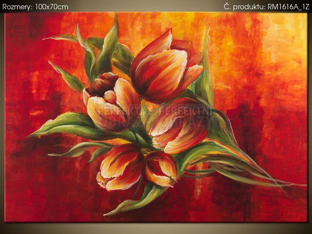 Ručne maľovaný obraz Abstraktné tulipány 100x70cm RM1616A_1Z