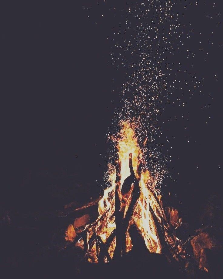 Aesthetic bonfire | Peace | Fire photography, Iphone