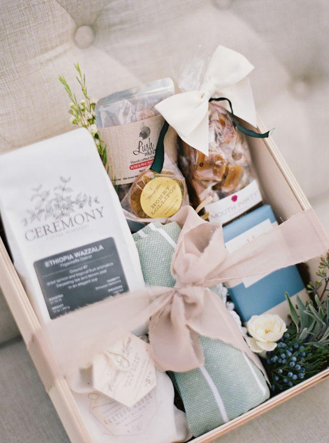Wedding ceremony welcome box: http://www.stylemepretty.com/maryland-weddings/churchville/2016/01/28/romantic-violet-smokey-charcoal-wedding-inspiration/ | Photography: Amelia Johnson - http://www.amelia-johnson.com/