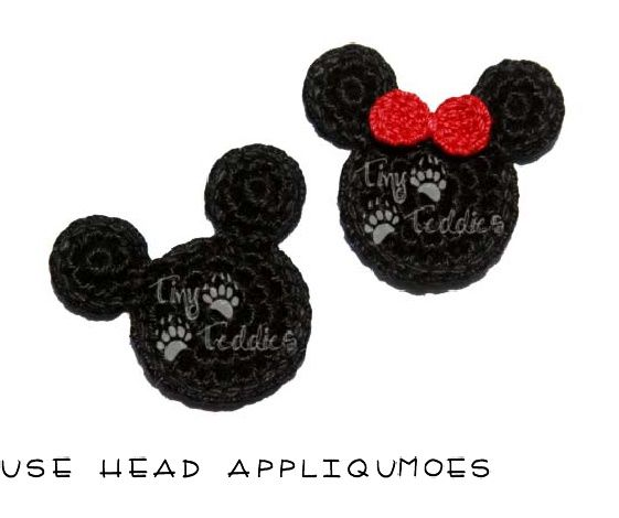 free pattern-mouse head appliques
