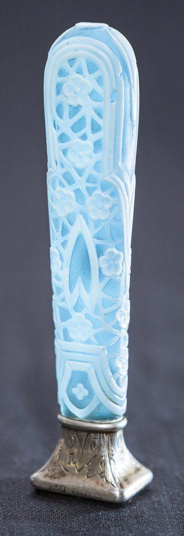 Thomas Webb cameo glass vase on silver base.