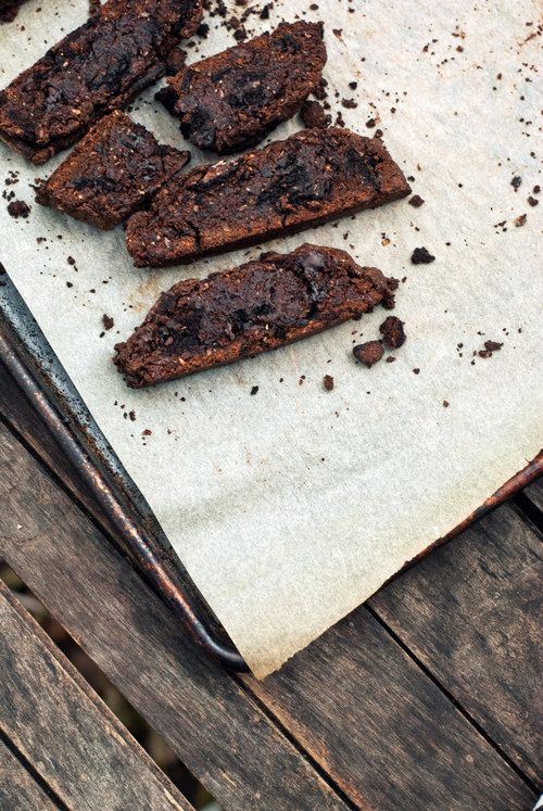 Whole Wheat Triple Chocolate Oreo Biscotti