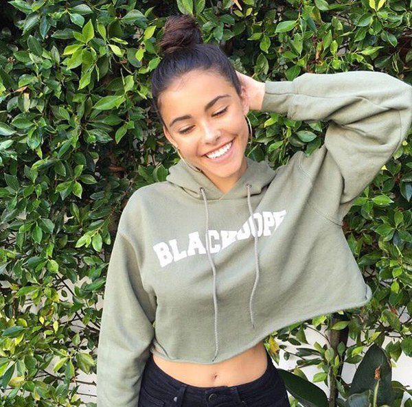 """""""Found this sweatshirt in my car. Not sure who it belongs to but it smells nice. And I cut it so it is mine now"""" I giggle ~Madison"""