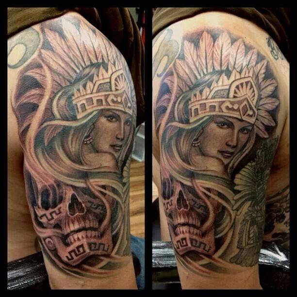 Tattoos For Women Aztec Tattoo Indian Skull Tattoos Aztec Drawing