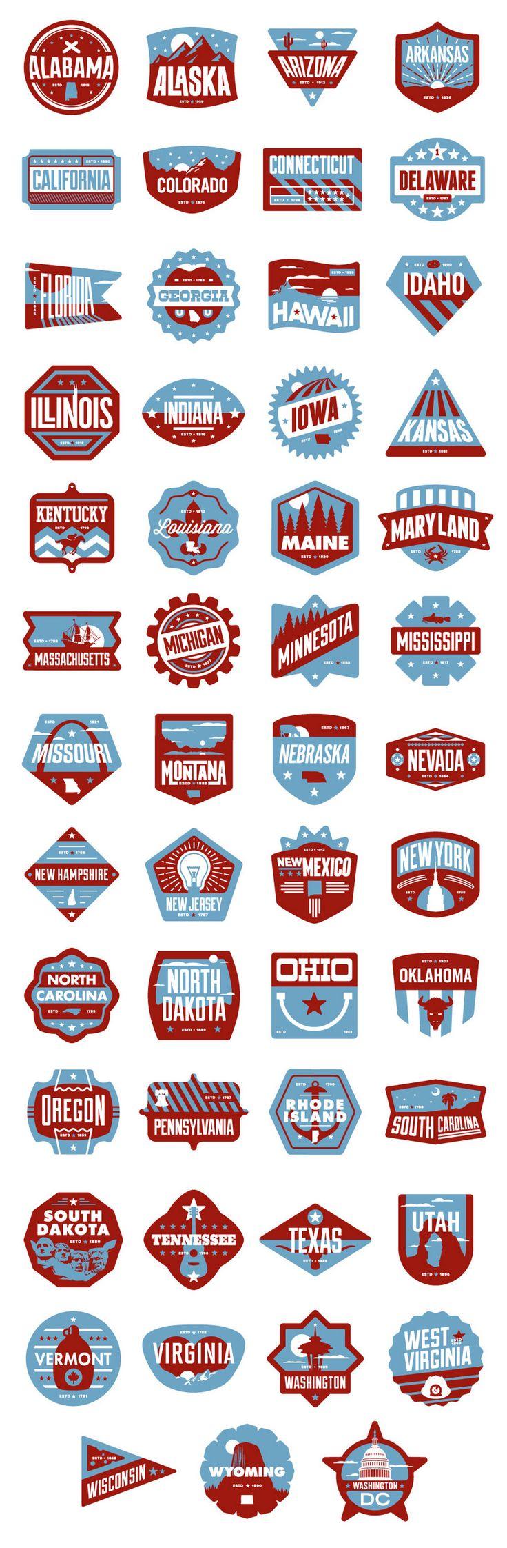 Floor Pass app badges designed by Chris Rushing