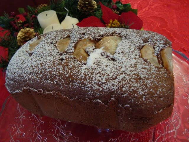 La buona cucina di Katty: Plum cake cioccolato e pere con la (MDP) macchina del pane
