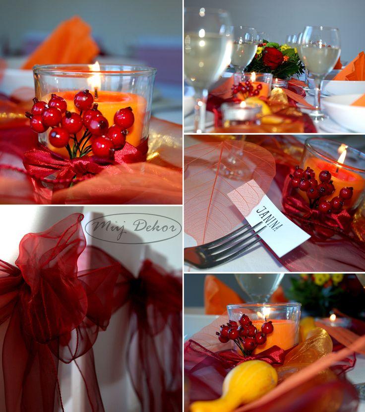 Martina a kuba. Podzimní svatební tabule.