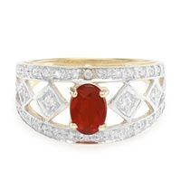 Juwelo anello opale di fuoco di queretaro oro giallo gioielli opale