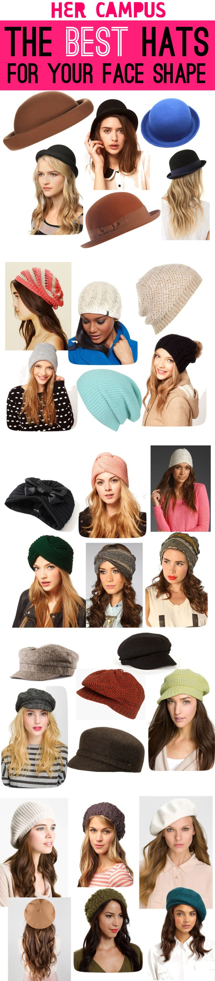 Find the best hat to flatter your face shape!
