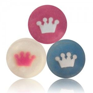 Little prince & little princess crown soaps