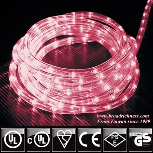 Pink Led Rope Light 2 Wire 1 2 3 8 120 Volt Cuttable Led