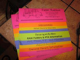 First Grade Fairytales: Throwback FRIDAY - Parent Handbooks Tutorial