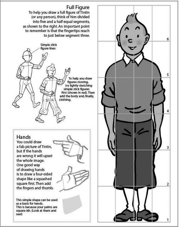 Les Aventures de Tintin :: Apprenez à dessiner Tintin !