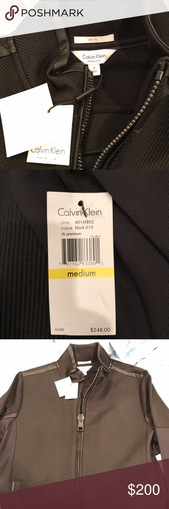 Calvin Klein slim size M bomber jacket tag $248 New with tags never worn 2017 Calvin Klein bomber jacket. Retails for $248 I am selling at a discount. In hand will ship immediately. Calvin Klein Jackets & Coats Bomber & Varsity