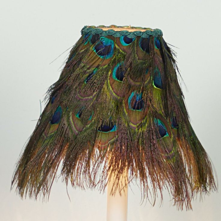 "6"" Peacock Feather Chandelier Lampshade"