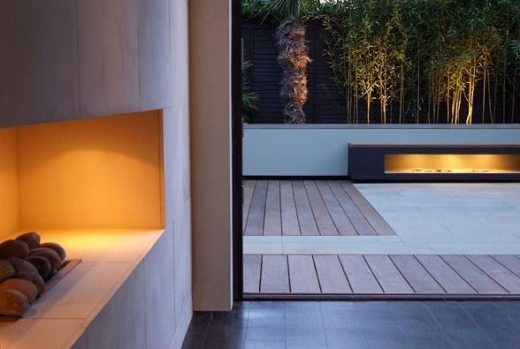 Contemporary garden design . Garden. Modern
