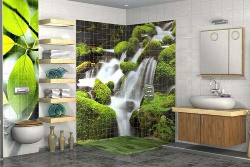 Banyo 3D Cam Mozaik  BNY  3116 -1