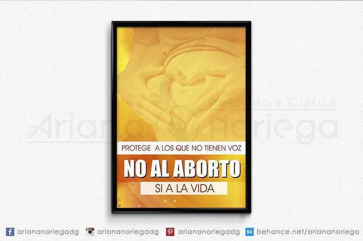 "Presentación de Afiche para campaña comunitaria ""Dile no al Aborto"""