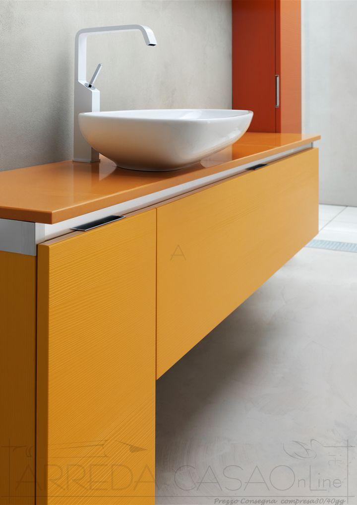 arredo bagno giallo rosso arancione kar39 prezzo arredacasaonline