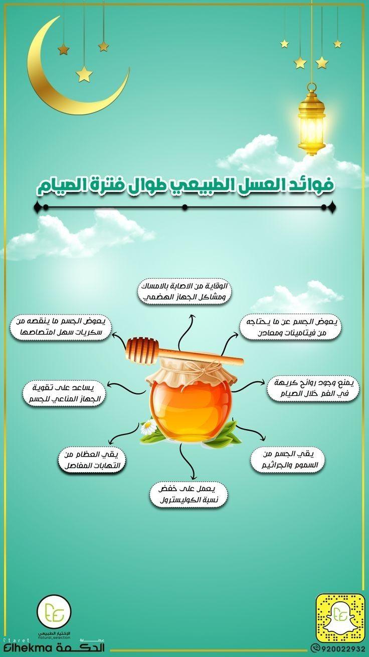 فوائد العسل الطبيعي طوال فترة الصيام In 2021 Natural Honey Ramadan Thank You For Order