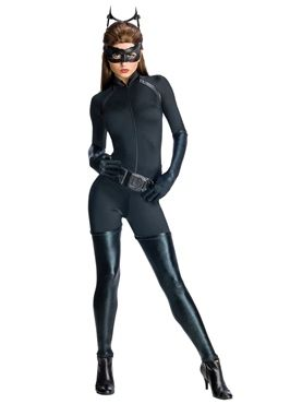 The Dark Knight Rises deluxe Catwoman fancy dress costume