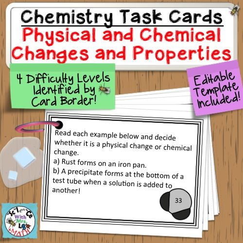 29 best Chemical and Physical Properties\/Changes images on - chemistry chart template