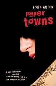"""Paper Towns, by John Green. One month before graduating from his Central Florida high school, Quentin """"Q"""" Jacobsen basks in the predictable boringness of his life until the beautiful and exciting Margo Roth Spiegelman, Q's neighbour and classmate, takes him on a midnight adventure and then mysteriously disappears."""