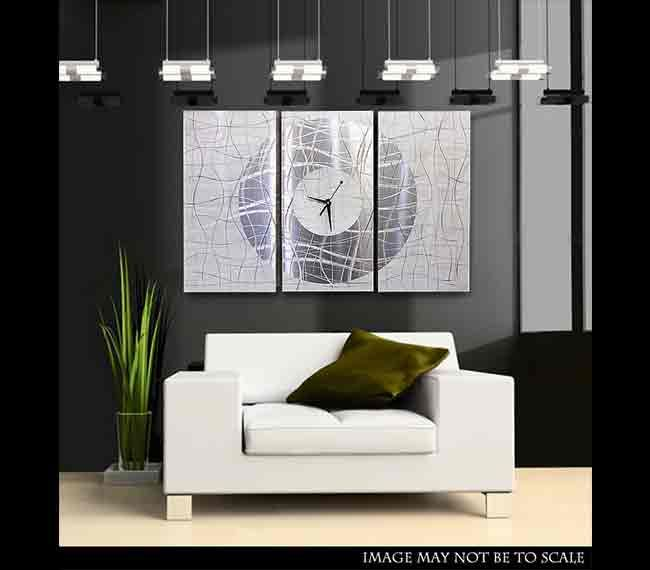 Contemporary Vibrations Metal Wall Clock By Jon Allen See More Modern