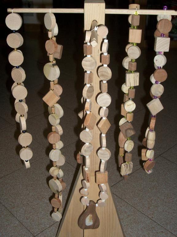Collana in legni pregati., by Fantasie in legno di Geppetto B, 20,00 € su misshobby.com