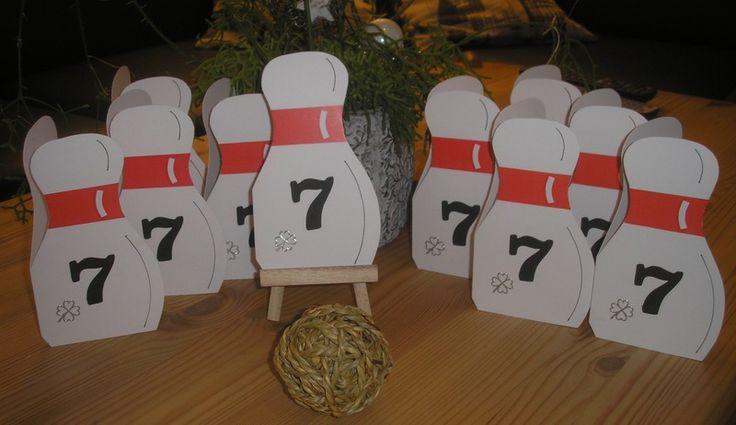 Einladung Karte Kegeln / Bowling von Bastelkoenigin-de auf DaWanda.com