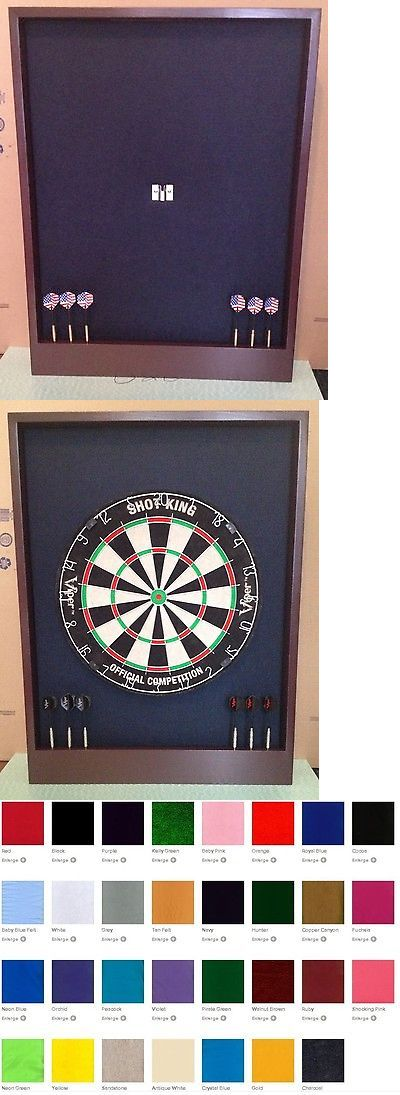 Darts-Steel Tips 26332: Black Mahogany Colored Dartboard Surround Cabinet W Dart Display And Storage -> BUY IT NOW ONLY: $99.99 on eBay!