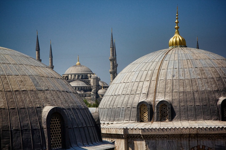 A view of the Blue Mosque from a window of Ayasofya #bluemosque