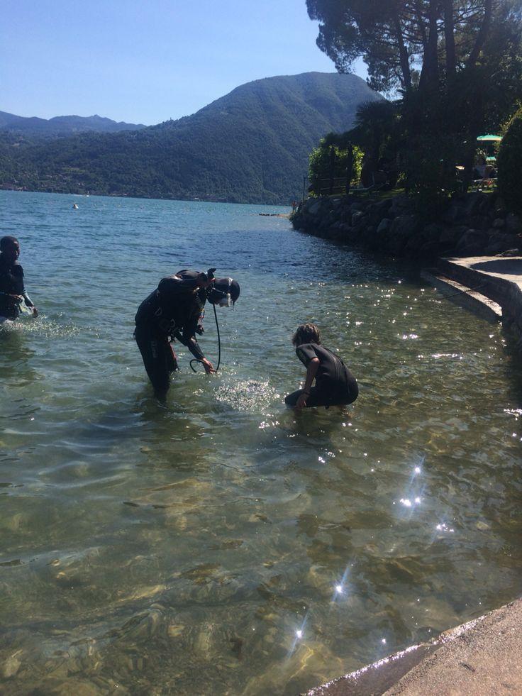 Diving in Lake Lugano Italy