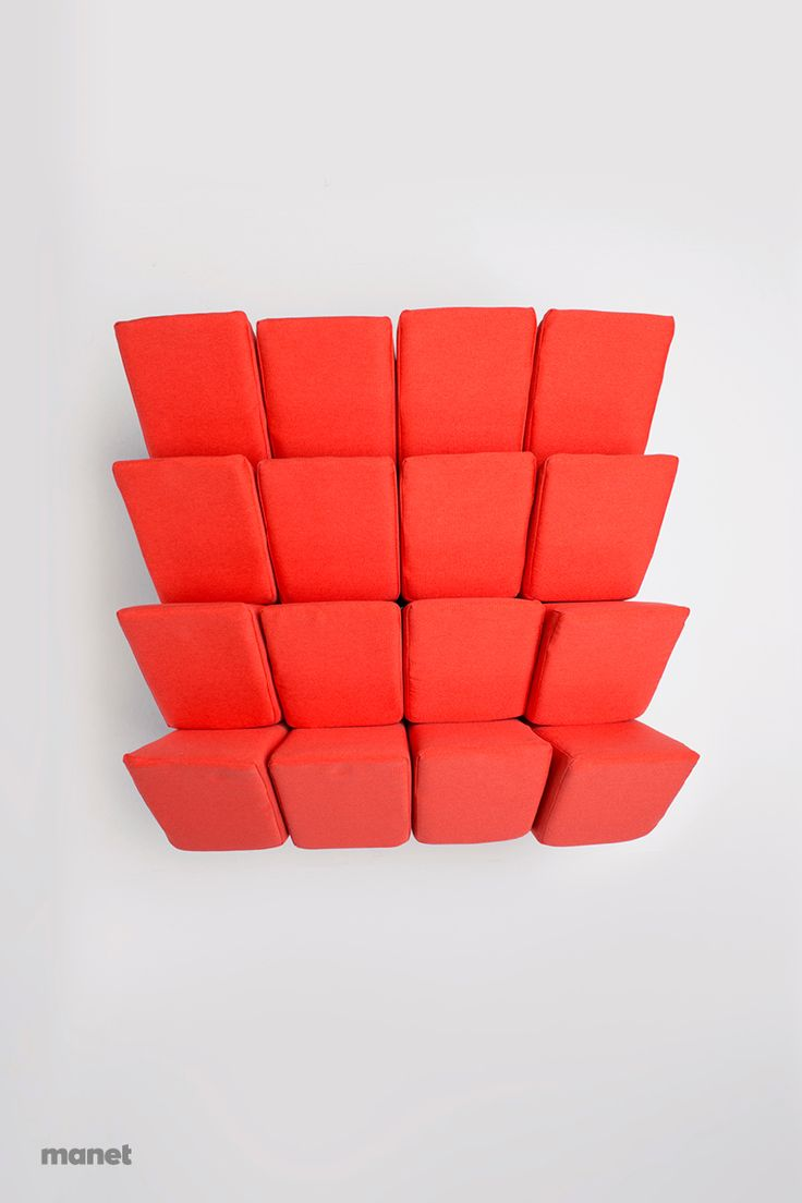 "MANET Easy Chair features sixteen pillows which are not fixed to the containing structure underneath them. This means that you are free to re-arrange MANET pillows as you please and by doing this you can create every time a ""new"" seat. In this case a quite tidy one."
