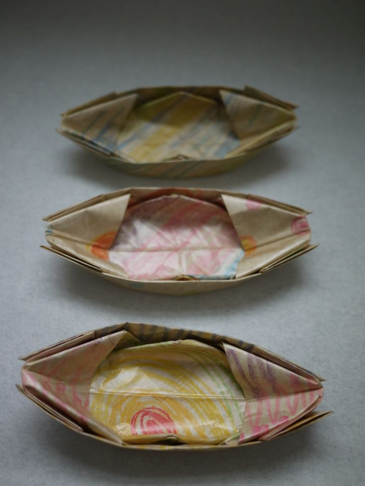 Paper boats - we may get lots of use out of making these!