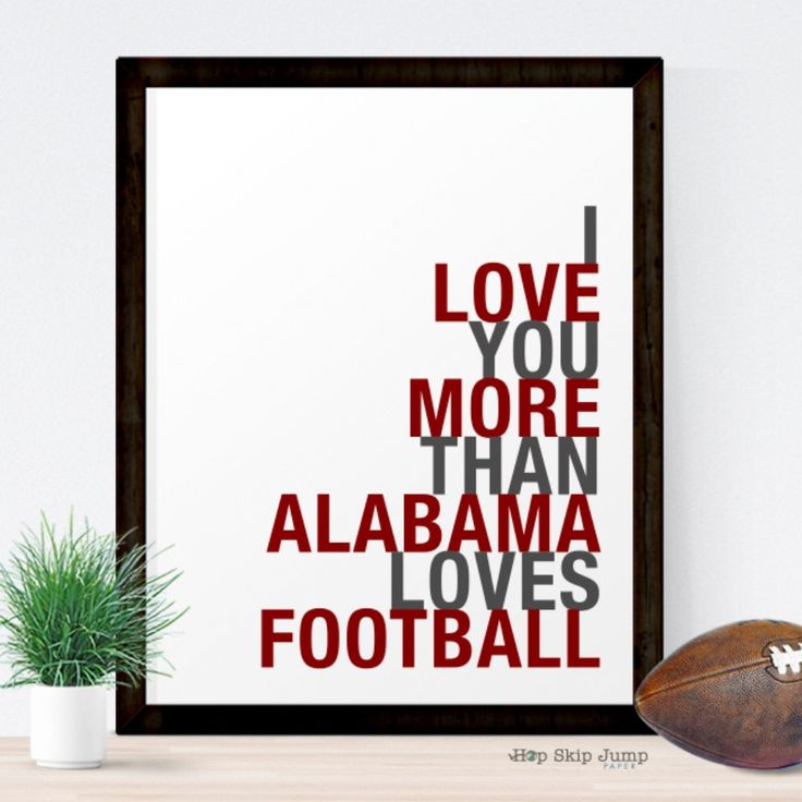 This witty wall art makes a one of a kind wedding gift for a football loving couple. Hang this unique poster up in your bedroom or send it to your graduates college dorm room. © hopskipjumppaper All R
