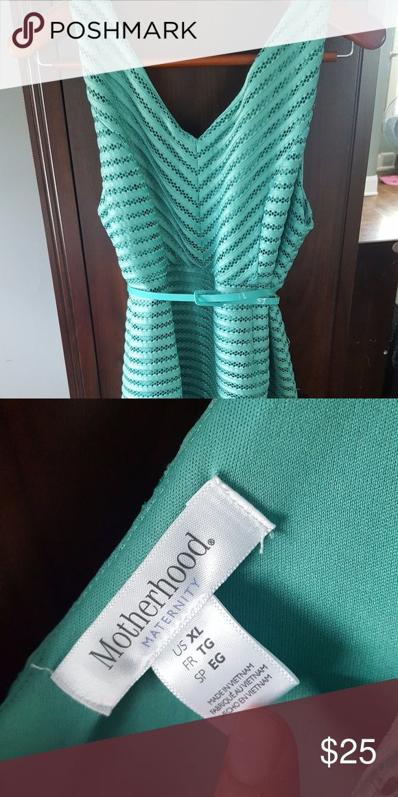 Maternity Dress Green Mint Green maternity dress, knee length Motherhood Maternity Dresses