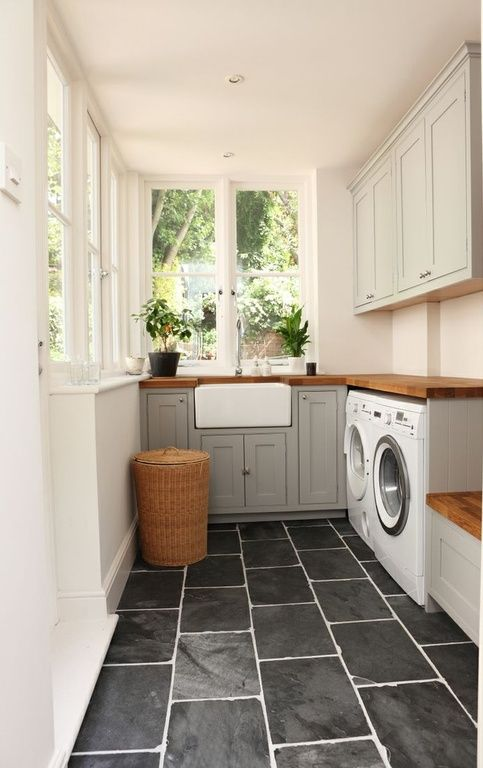 Traditional Laundry Room With Williamsburg Butcher Block Co. 1 1/2 Part 87