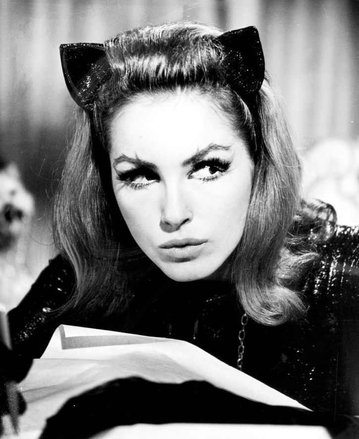 Julie Newmar as Cat Woman: Someone told me I look like her which is so random, but she is gorgeous and I love cats so I'll take it!!! lol She kind of looks like my Grandma