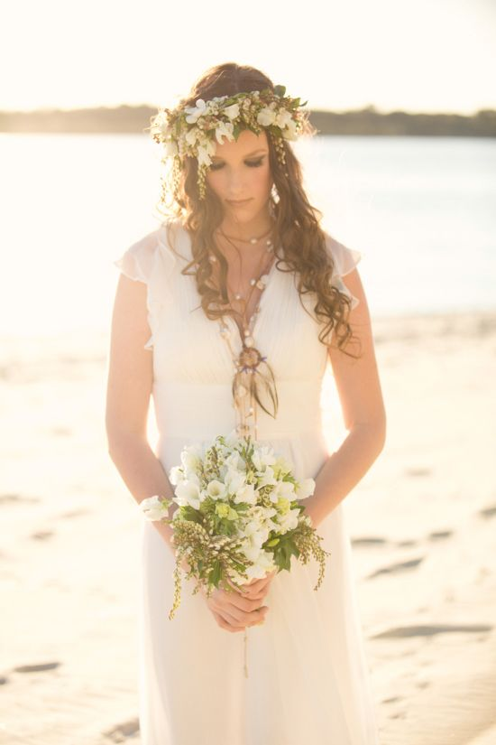 Like the hairstyle and flowers .... like the frock.... relaxed, comfortable....