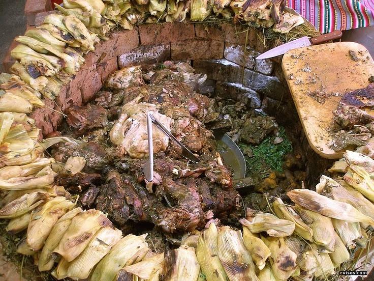 Pachamanca Huanuquena: De Comidas, De Cocción, La Pachamanca, Olla De, Foto De, Del Peru, An, Ground, Pachamanca Huanuquena