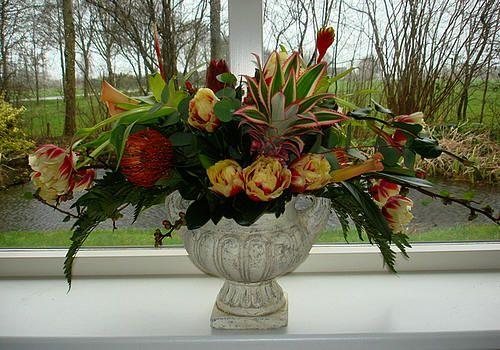Barok bloemwerk klassiek modern ,  barok vaas