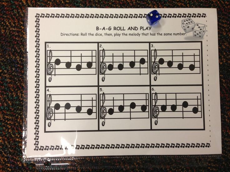 recorder game, in a group, play the number you rolled, others guess