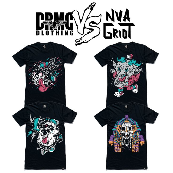 """CRMC X NVA GRIOT Tees From top left; """"Street Cat"""" Tee """"Street Goat"""" Tee """"Street Panda"""" Tee """"Street Pharaoh"""" Tee  available at www.crmcclothing.co  #goat #fashion #panda #hiphop #hiphopart #hiphopculture #hiphophead #graff #graffiti #graffart #mexican #mexicanartist #mexico #goat #catlife #cat #cats #lovecats #cat #alternative #alternativewear #alternativestreetwear #alt #altwear #Pharaoh #panda #streetwear"""