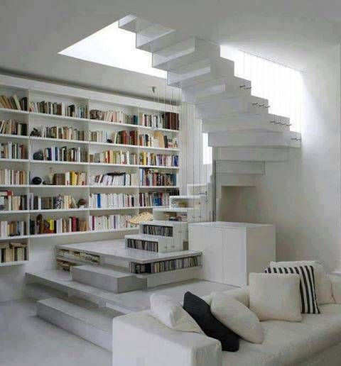 Modern Home Library Design Ideas: Modern Library And Modern