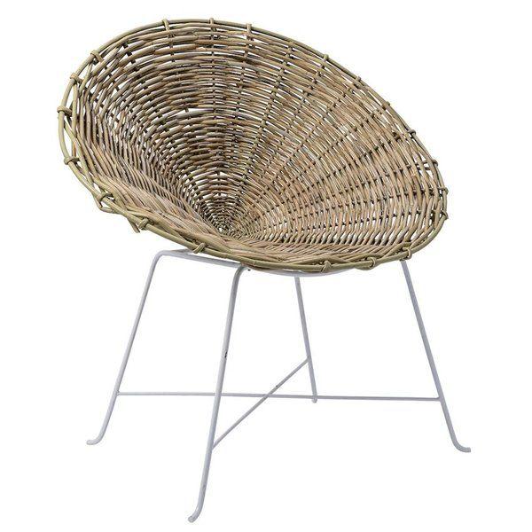 Poulsen Papasan Chair Papasan Chair Rattan Lounge Chair