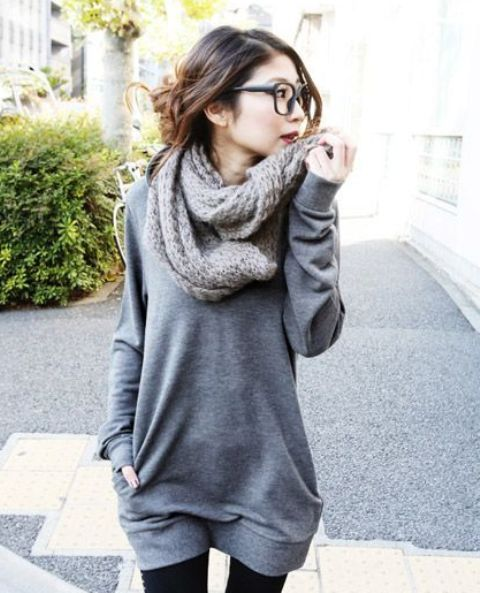 womens oversized sweater outfit - Google Search