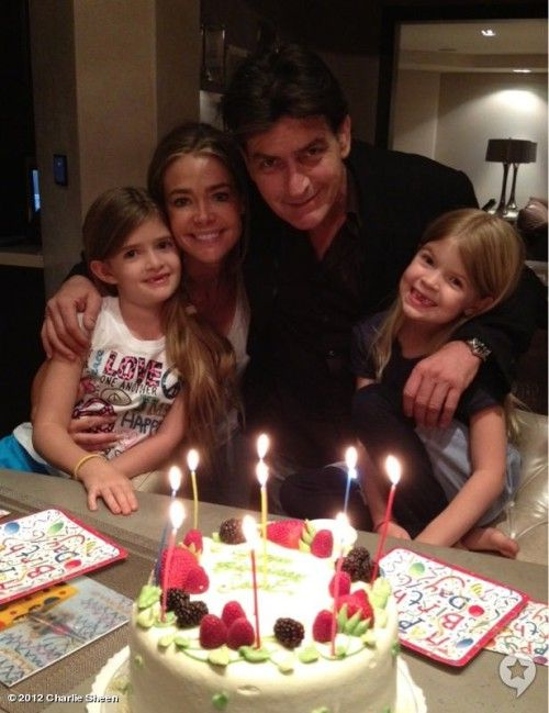 "Denise Richards & Charlie Sheen ""Keep The Kids A Priority"""