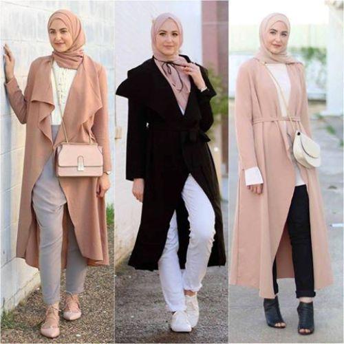 blush-waterfall-cardigans-leena-asaad-hijab- Cute cozy winter hijab style http://www.justtrendygirls.com/cute-cozy-winter-hijab-style/